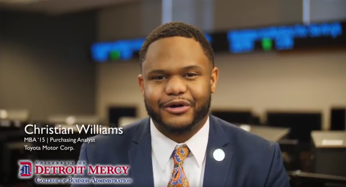 College of Business Administration TV spot – Maria Garcia & Christian Williams
